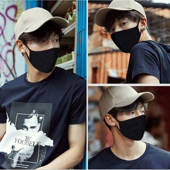 Black Half Face Earloop Dust Masks For Outdoor Sport 8Pcs