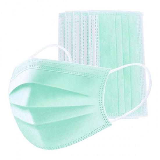 5Pcs Disposable Three-Layer Masks Green