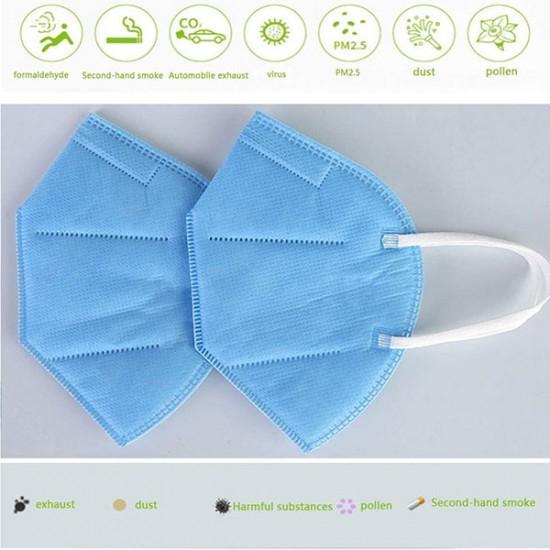 Resuable Blue N95 Mouth Mask 5Pcs