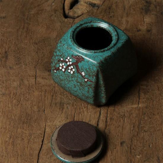 Vintage Style Plum Flower Pattern Ceramic Tea Canister