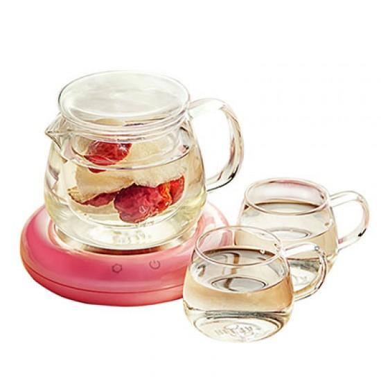 Glass Tea Set with Thermostatic Tea Mat
