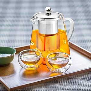 High Borosilicate Glass Tea Pot 950ml/20oz