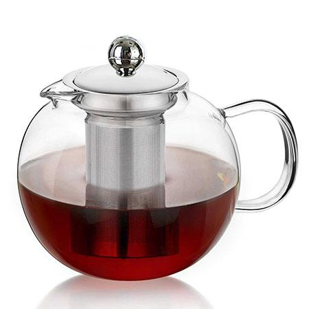 Round Glass Teapot 1300ml/44.0oz